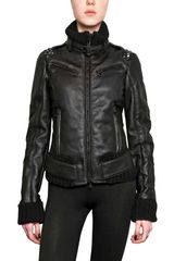 Rue The Tanneurs Studded Leather and Shearling Jacket - Lyst