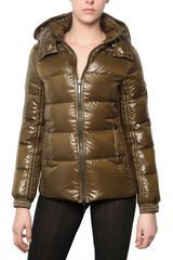 Tatras Cursa Hooded Shiny Nylon Down Jacket - Lyst