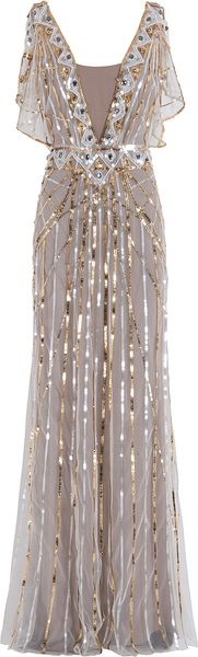 Temperley London Sequin Gown - Lyst