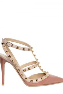 Valentino 100mm Rock Stud Patent Pumps - Lyst