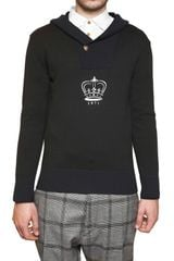 Vivienne Westwood Crown Print Hooded Wool Knit Sweater - Lyst