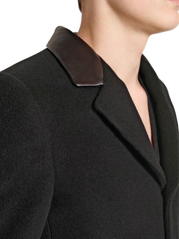Lyst Saint Laurent Castorino Cashmere Wool Coat In Black