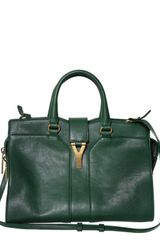 Yves Saint Laurent Mini Cabas Chyc Leather Shoulder Bag - Lyst