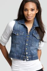 Ash Jacket The Sleeveless Snap Jacket in Loved Wash - Lyst