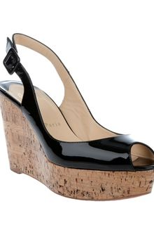 Christian Louboutin Cork Wedges - Lyst