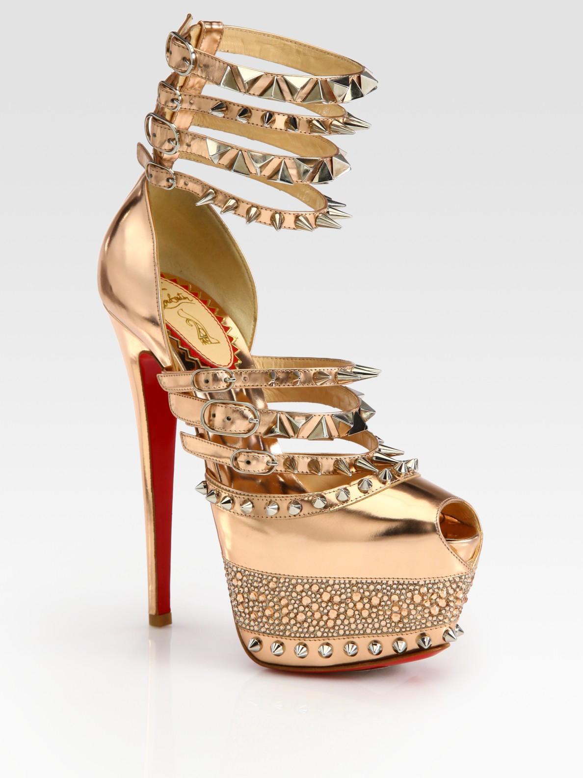 2c2d565cd7f0 ... christian louboutin zoulou strappy platform sandal christian louboutin  iriza gold