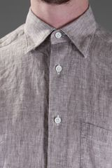Ermenegildo Zegna Linen Shirt in Brown for Men (taupe) - Lyst