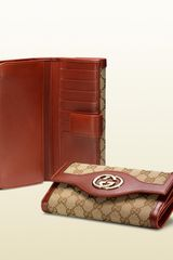 Gucci Interlocking G Continental Wallet - Lyst