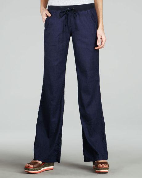 Fantastic 100 LIN BLANC Navy Blue Nat Linen Pants  Zulily