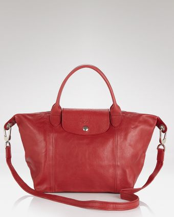 Longchamp Shoulder Bag Le Pliage Leather Cuir Small - Lyst