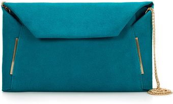 Zara Clutch Bag with Folded Edges - Lyst