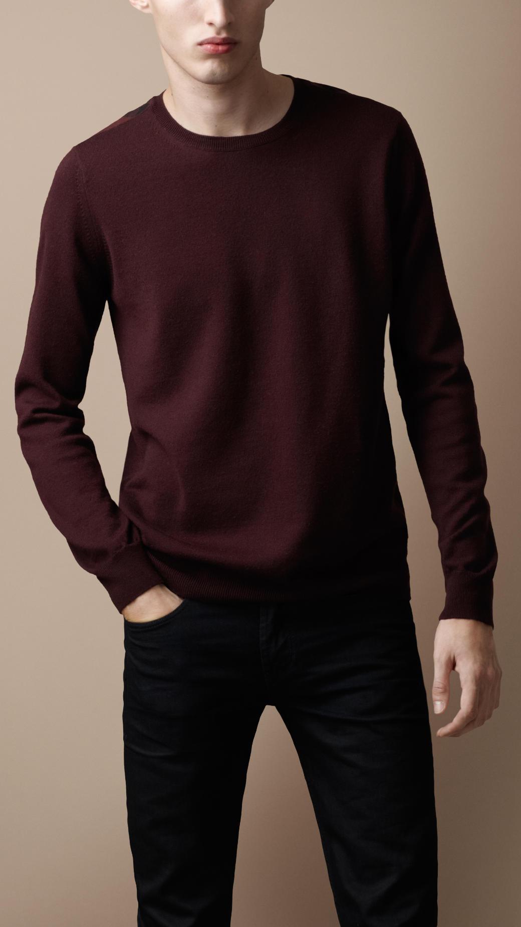 337b71bac Lyst - Burberry Brit Merino Wool Sweater in Brown for Men