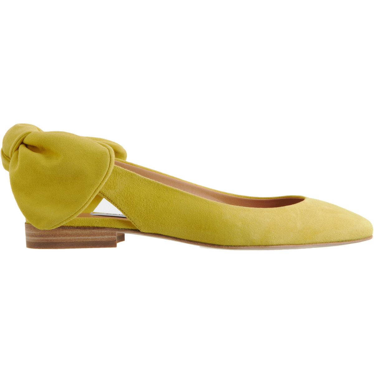 f244116f2095 Carven Slingback Bow Ballet Flat in Yellow - Lyst