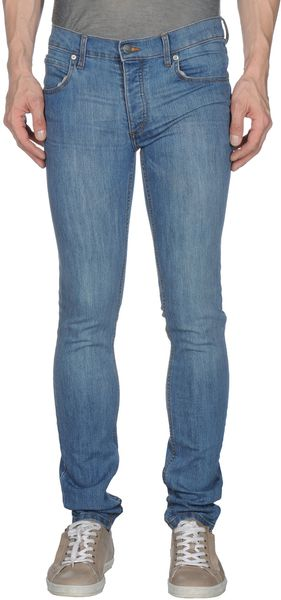 Cheap Monday Denim Trousers in Blue for Men - Lyst