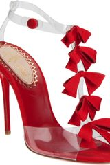 Christian Louboutin Bow Bow Sandals in Red - Lyst