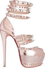 Christian Louboutin Isolde Sandals in Pink (silver) - Lyst