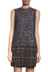 Dolce & Gabbana Lace Overlay Shift Dress - Lyst