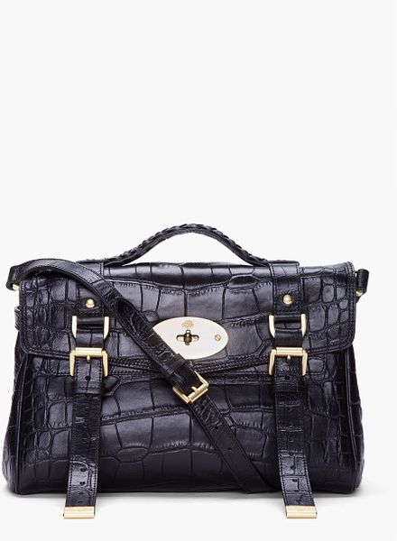 Mulberry Black Alexa Veg Tan Bag in Black - Lyst