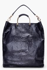 Mulberry Ink Blue Scaled Hetty Hobo in Blue (ink) - Lyst