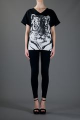 Stella Mccartney Cotton Tshirt in Black - Lyst