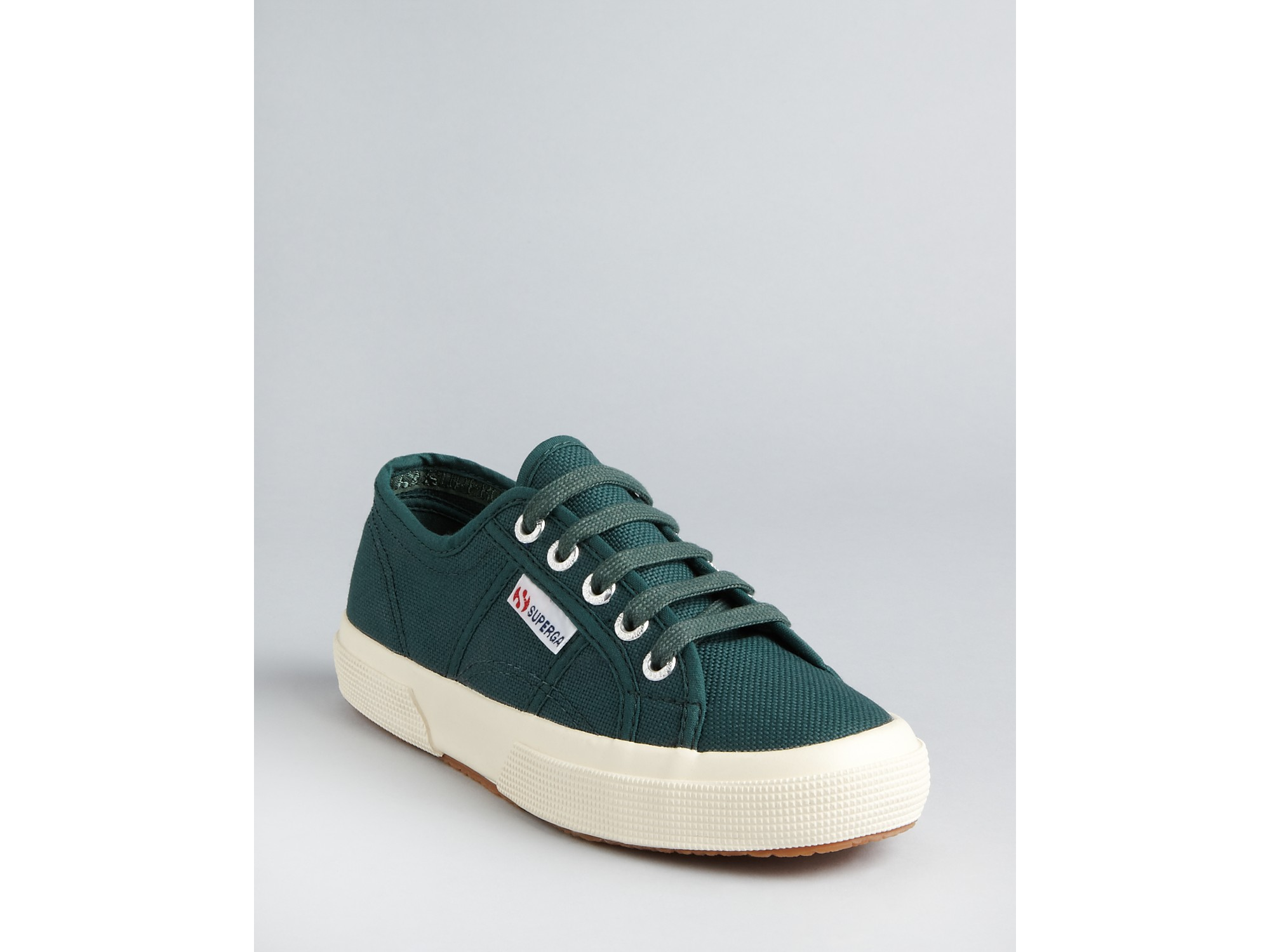 superga classic canvas sneakers in purple pine green lyst