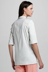 Tibi Linen Jacket in White (steel white) - Lyst