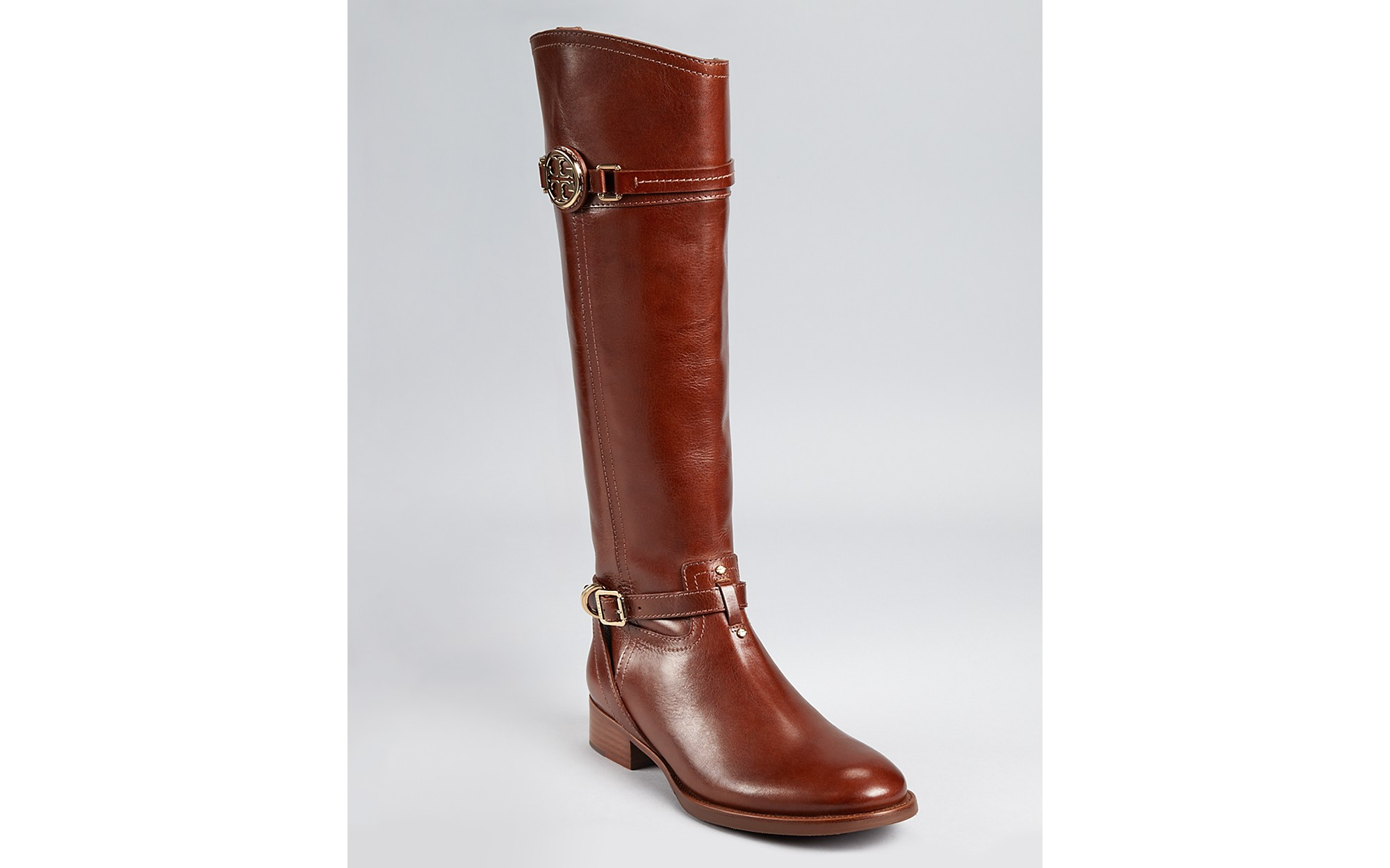Tory burch Calista Leather Riding Boots in Brown | Lyst