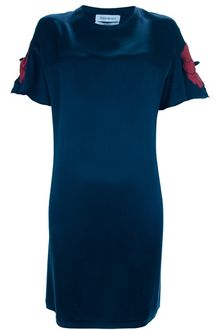 Yves Saint Laurent Poppy Detail Dress - Lyst