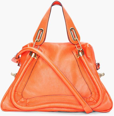 Chloé Orange Medium Paraty Bag in Orange - Lyst