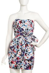 Cynthia Steffe Nadia Strapless Pansyprint Dress - Lyst