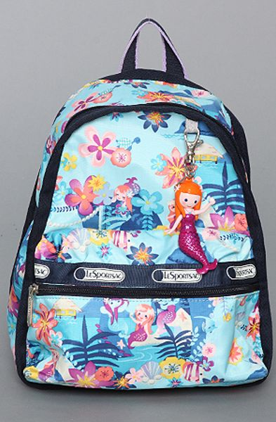 Lesportsac The Disney X Lesportsac Mini Basic Backpack with Charm in Tahitian Dreams in Blue