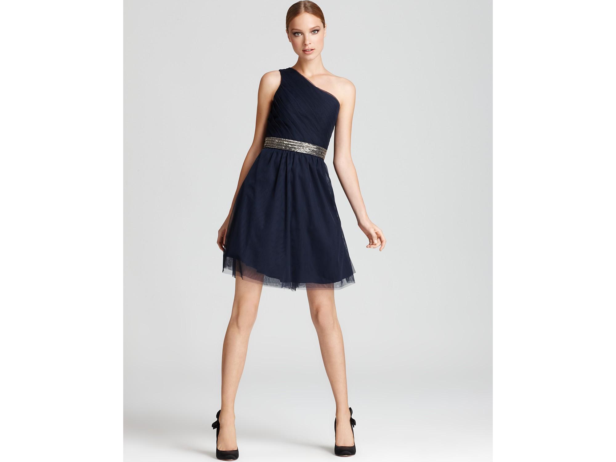 Lyst - Max & Cleo One Shoulder Dress Brianna in Black