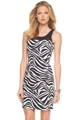 Michael by Michael Kors Zebraprint Dress - Lyst