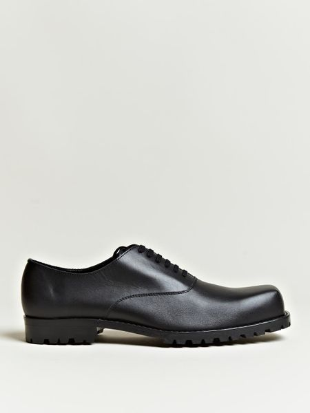 Comme Des Garçons Comme Des Garcons Homme Mens Cowhide Leather Shoes in Black for Men - Lyst