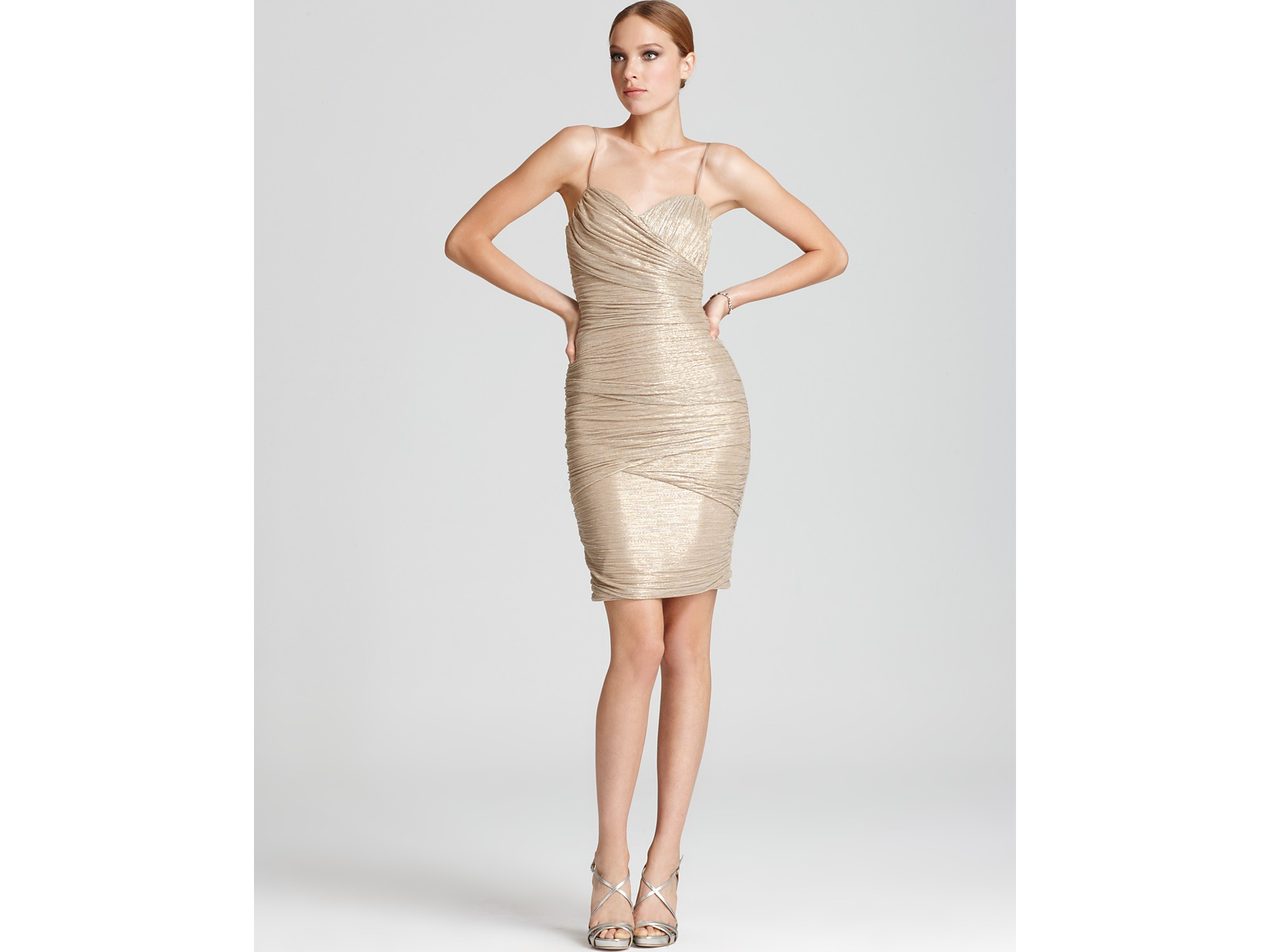 f0e2bcb89ee71 Max & Cleo Shiny Dress Esther in Natural - Lyst