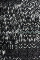 Missoni Zigzag Knit Dress in Gray (black) - Lyst
