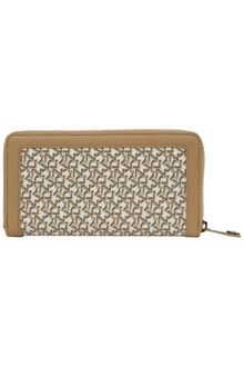 DKNY Coated Logo Large Ziparound Purse - Lyst