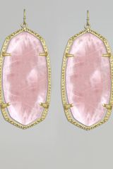 Kendra Scott Danielle Earrings Rose Quartz - Lyst