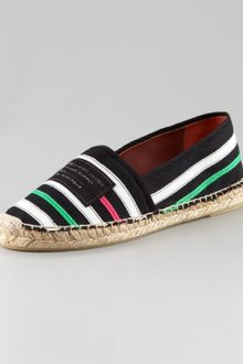 Marc By Marc Jacobs Striped Espadrille Slip-Ons - Lyst