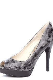 Michael by Michael Kors York Pythonembossed Platform Pump  - Lyst