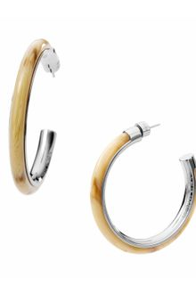 Michael Kors Hoop Earring with Horn Design Detail - Lyst