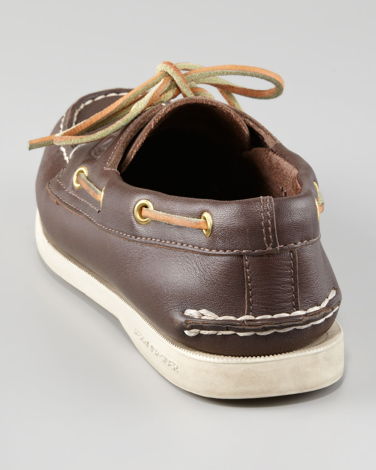 Sperry top-sider Authentic Nubuck Boat Shoe in Brown ...