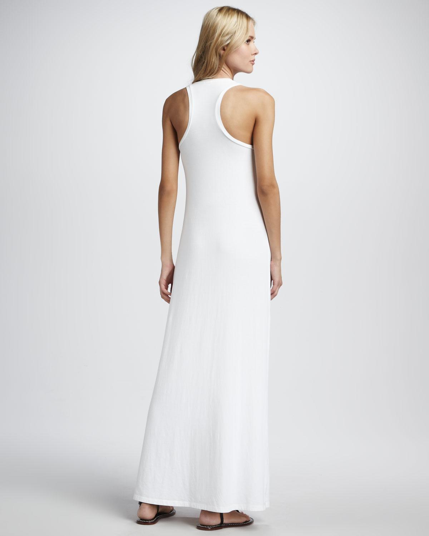 Splendid Sleeveless Tank Maxi Dress in White