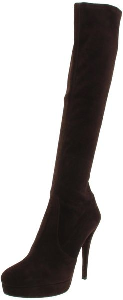 Stuart Weitzman Stuart Weitzman Womens Giveitup Kneehigh Platform Boot in Black (cola suede) - Lyst