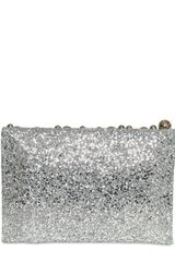 Anya Hindmarch Valorie Bells Glitter Fabric Clutch