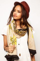 Asos Leopard and Chain Print Scarf - Lyst