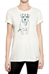 Burberry Prorsum Dog Print Cotton Jersey Tshirt - Lyst