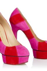 Charlotte Olympia Priscilla in Stripes in Pink (fuschia) - Lyst
