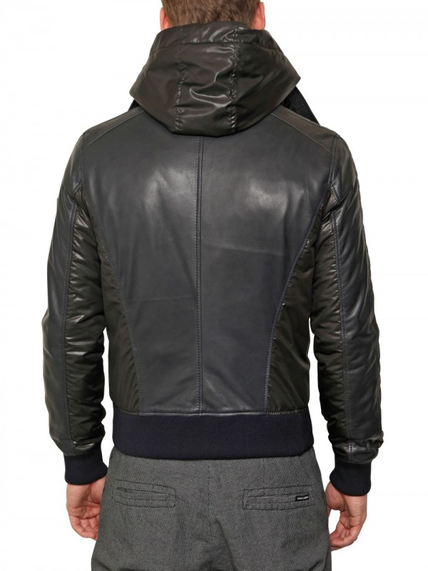 Lyst Dolce Amp Gabbana Nylon And Leather Jacket In Black