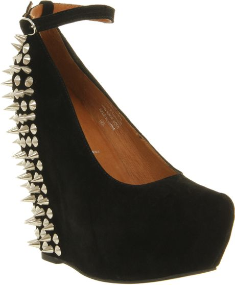 Jeffrey Campbell Aubrey Spike Wedges in Black - Lyst